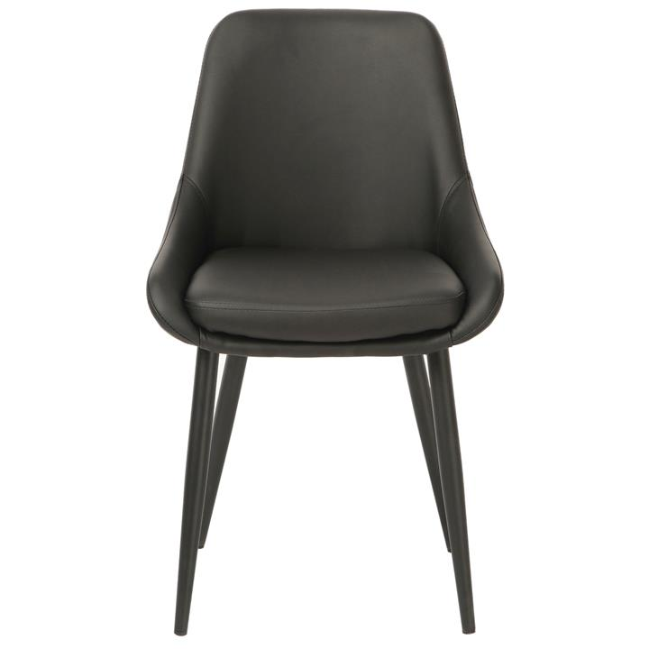 Frobisher Faux Leather Dining Chair, Black