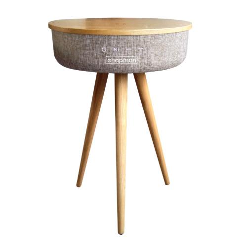 Dakota Wooden Side Table with Bluetooth Speaker & Powerbank Colour: Ash Wood
