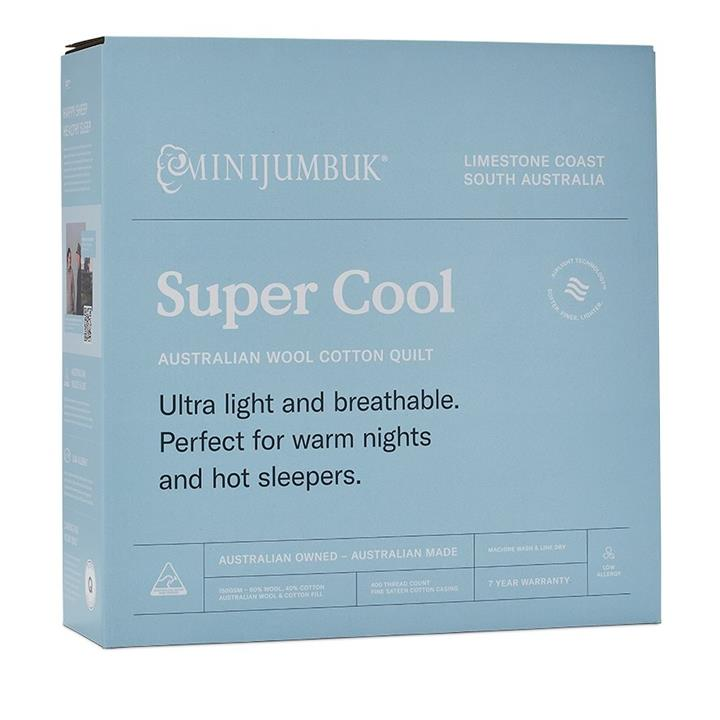 MiniJumbuk Super Cool Wool Cotton Quilt  By Adairs