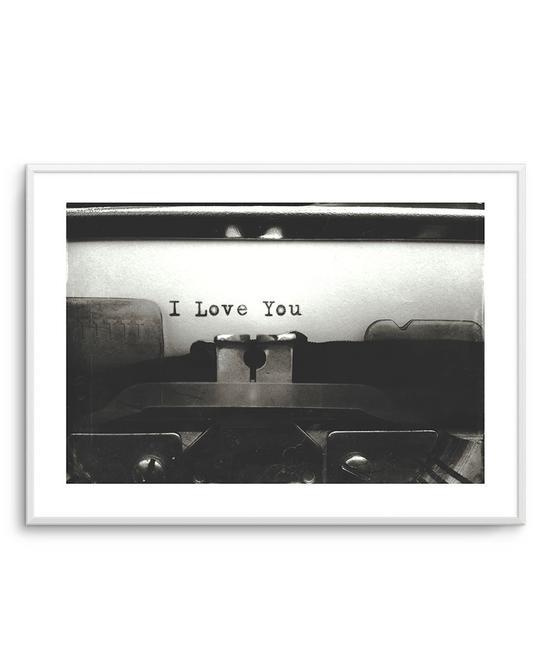 I Love You | Typewriter
