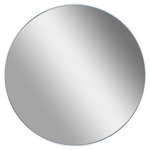 Stellar Round Metal Mirror Colour: White