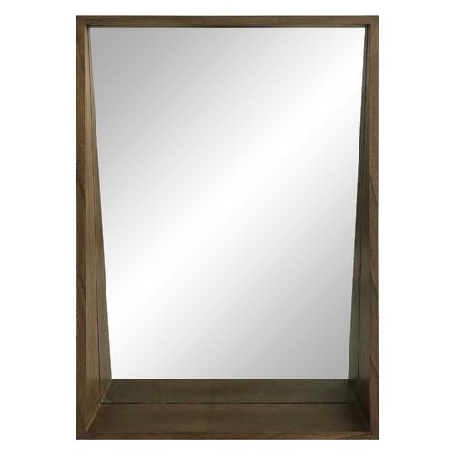 Dark Timber Mossman Wall Mirror With Shelf
