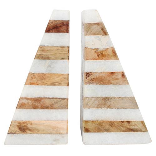Set of 2 Edah Marble Bookends