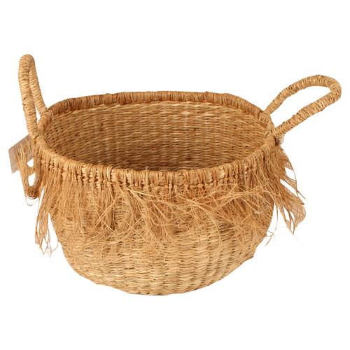 Lara Fringed Seagrass Basket