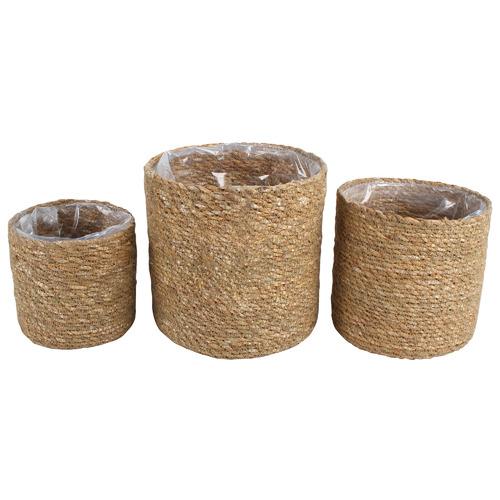 3 Piece Coffs Lined Seagrass Basket Set