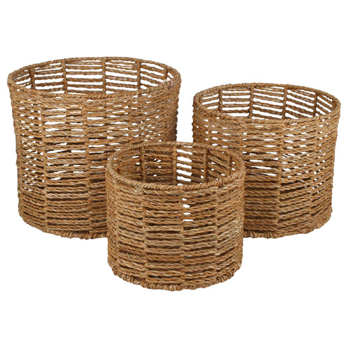 3 Piece Arltunga Seagrass Basket Set