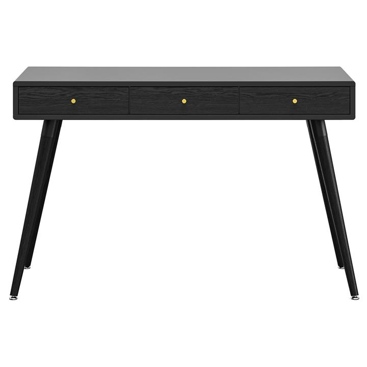 Einar Luxe 3 Drawer Home Office Writing Desk, 120cm