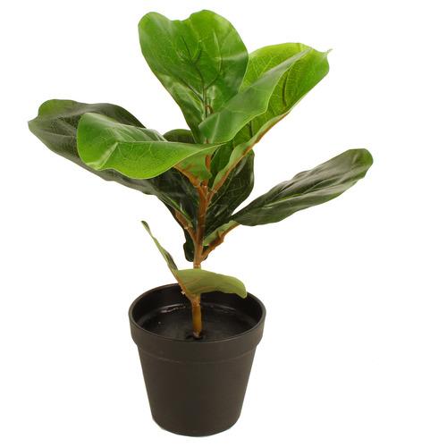 33cm Potted Faux Fiddle Leaf Plant