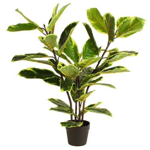 90cm Potted Faux Real Touch Rubber Plant