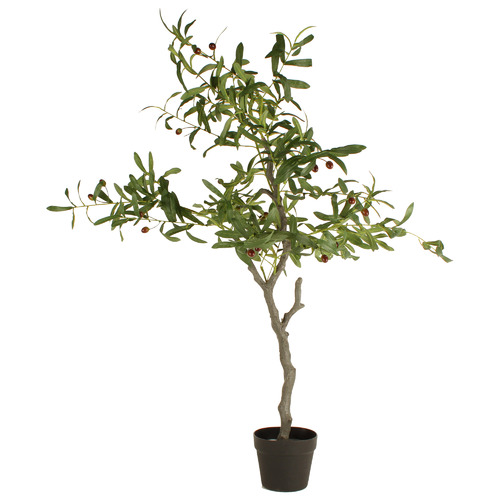 125cm Potted Faux Olive Tree