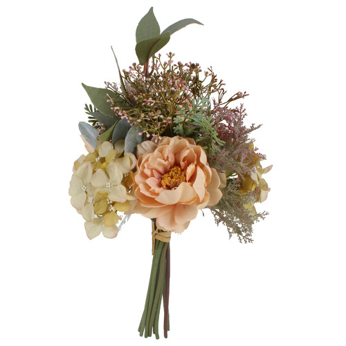 35cm Faux Mixed Bouquet with Eucalyptus Leaves