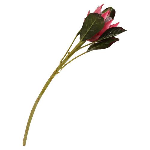 51cm Faux Pink Emperor Protea Plant Stem