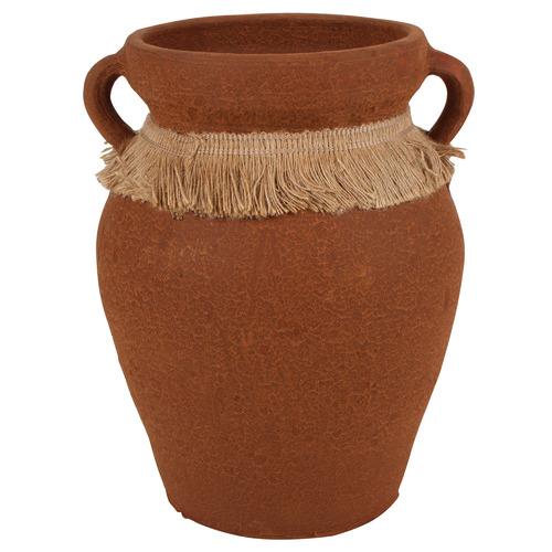 Brown Aicha Terracotta Vase Size: 30 x 22 x 22cm