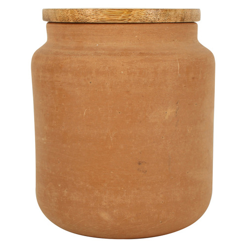 Bacchus Terracotta Jar With Lid