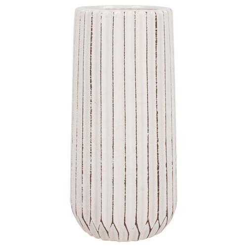 Taj Ceramic Vase Colour: White