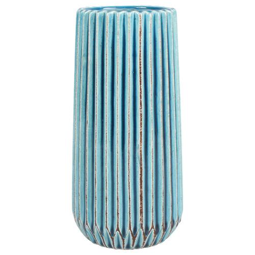Taj Ceramic Vase Colour: Blue