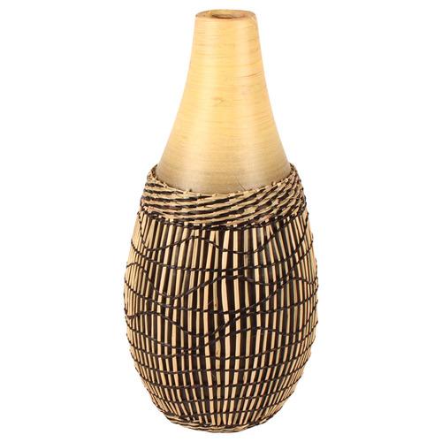 Natural Abui 40cm Bamboo & Rattan Vase