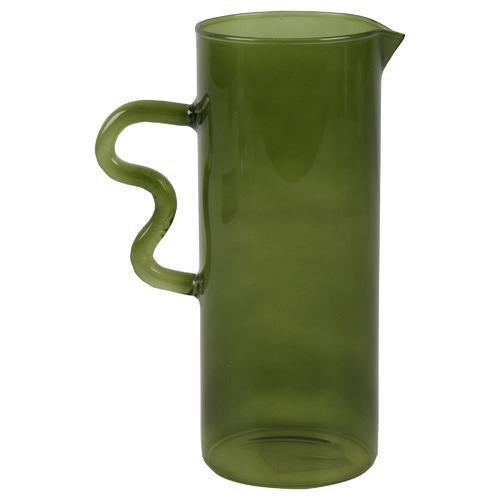 Olive Rascal Hand Blown Glass Decorative Jug