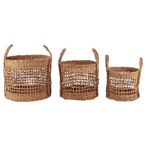 3 Piece Runa Seagrass Basket Set