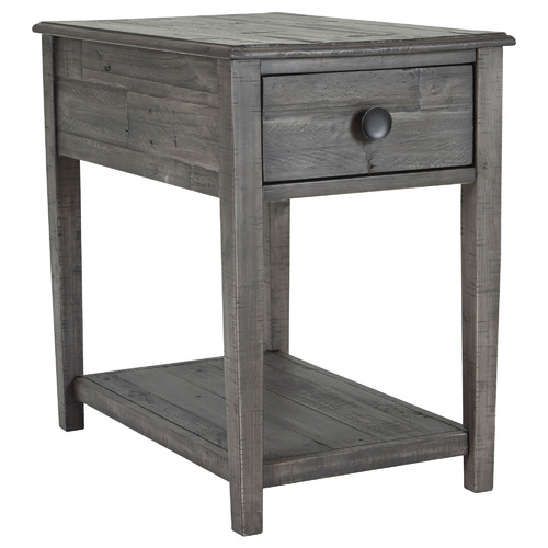 Grey Boreus Pine Wood Side Table