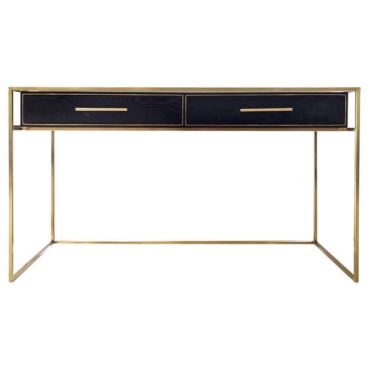 Vogue Desk, 137cm, Black / Gold