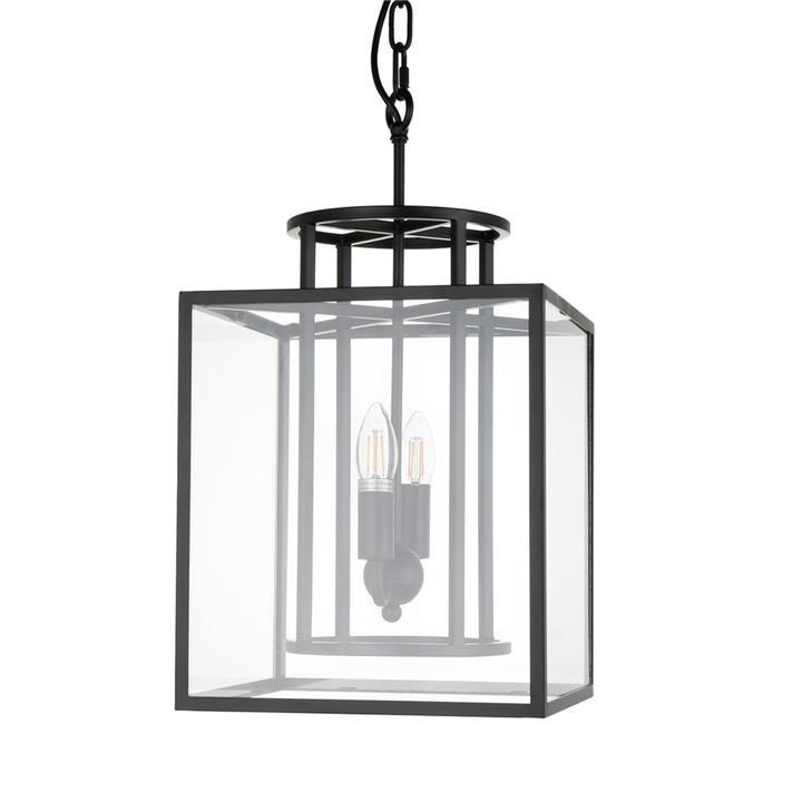 Concord Steel & Glass Pendant Light, Small, Black