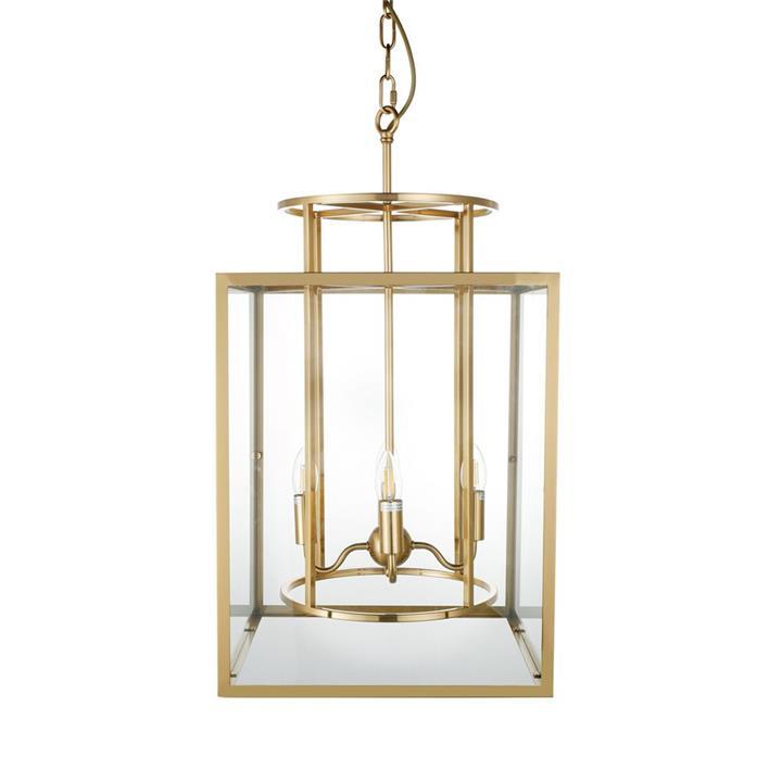 Concord Steel & Glass Pendant Light, Large, Brass