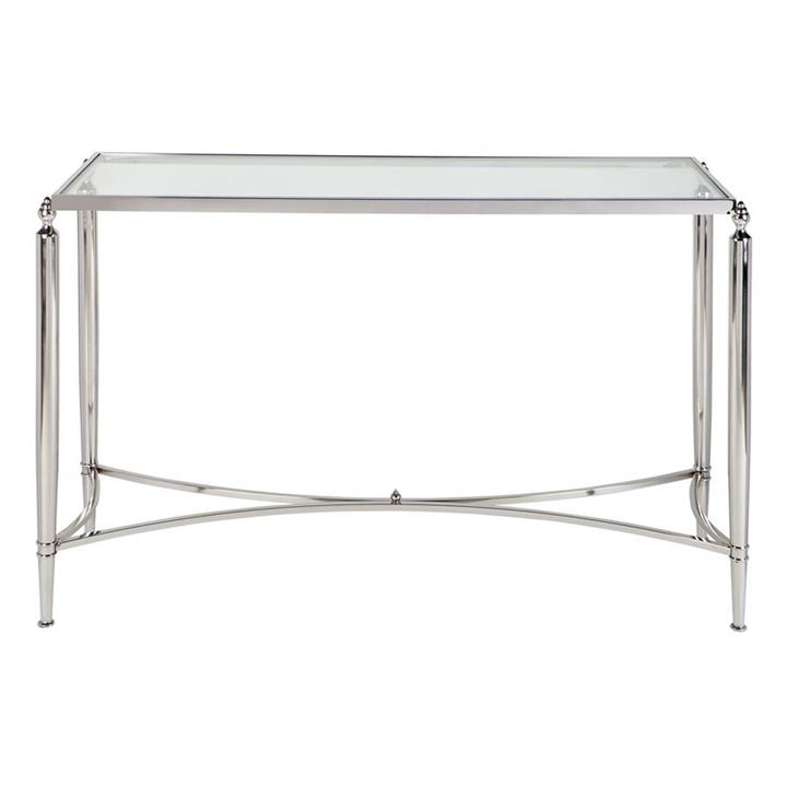 Jak Stainless Steel Console Table, 125cm, Nickel