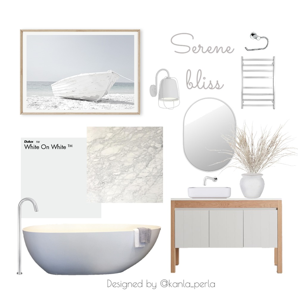 Serene Bliss Interior Design Mood Board by K A N L A_P E R L A on Style Sourcebook