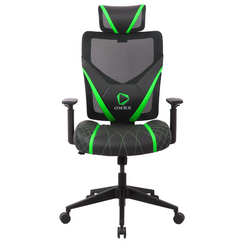 ONEX GE300 Breathable Mesh Gaming Chair Colour: Black & Green