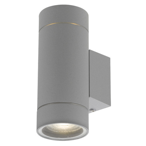 Kman Outdoor Up/Down Wall Light Colour: Silver