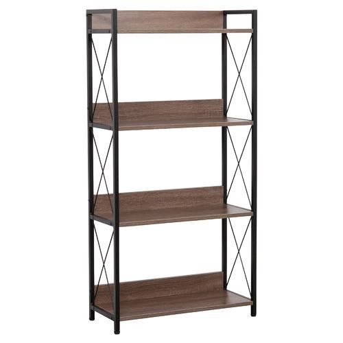 Natural & Black Chelsea 4 Tier Shelf