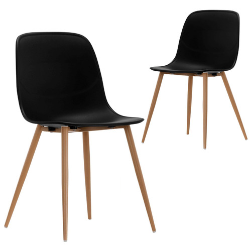 Set of 2 Obrien Dining Chairs Colour: Black