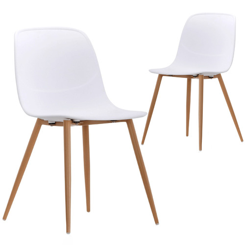 Set of 2 Obrien Dining Chairs Colour: White
