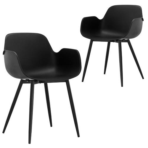 Set of 2 Black Blake Dining Chairs