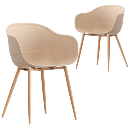 Set of 2 Natural Willis Beetle Dining Chairs