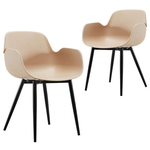 Set of 2 Natural Blake Dining Chairs