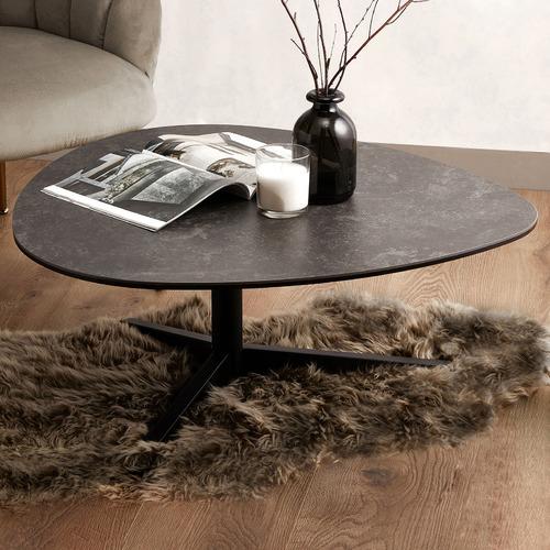 Austin Porcelain Coffee Table Size: 34 x 84 x 77cm, Tabletop Colour: Black