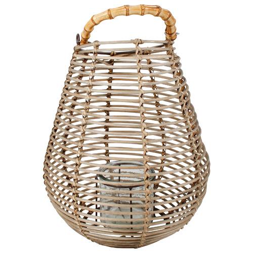Sita Rattan Lantern Vase with Handle