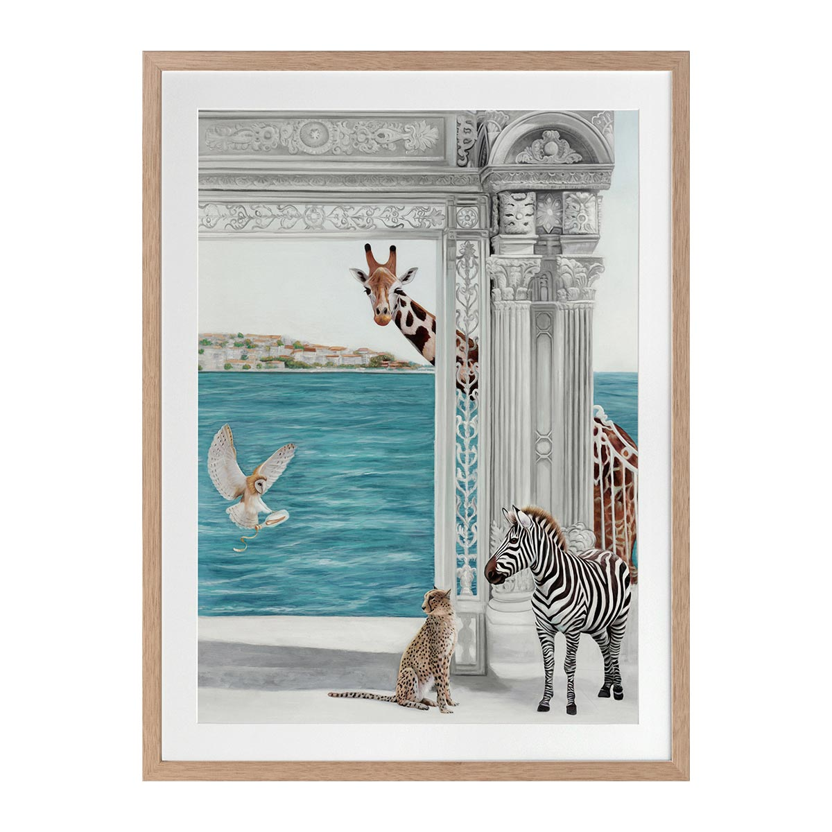 THE MESSAGE FRAMED PRINT in 84 x 105cm