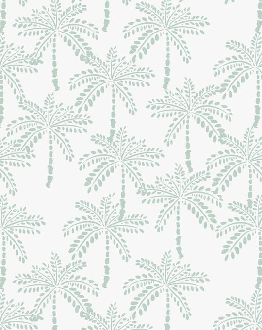 Cruisey Palms   Mint Wallpaper