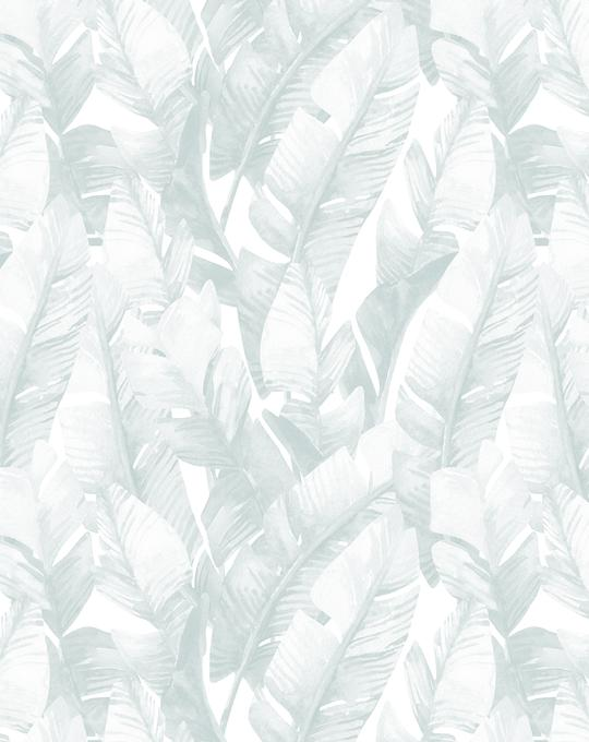 Banana Leaf Palms | Seafoam Wallpaper
