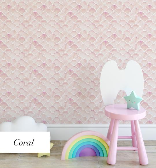 Mermaid Scales Wallpaper | 4 Colour Options