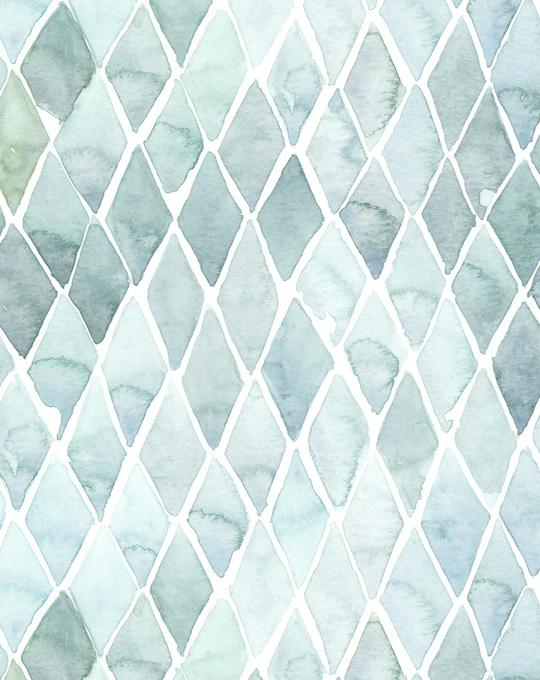Seafoam Large Tile Wallpaper
