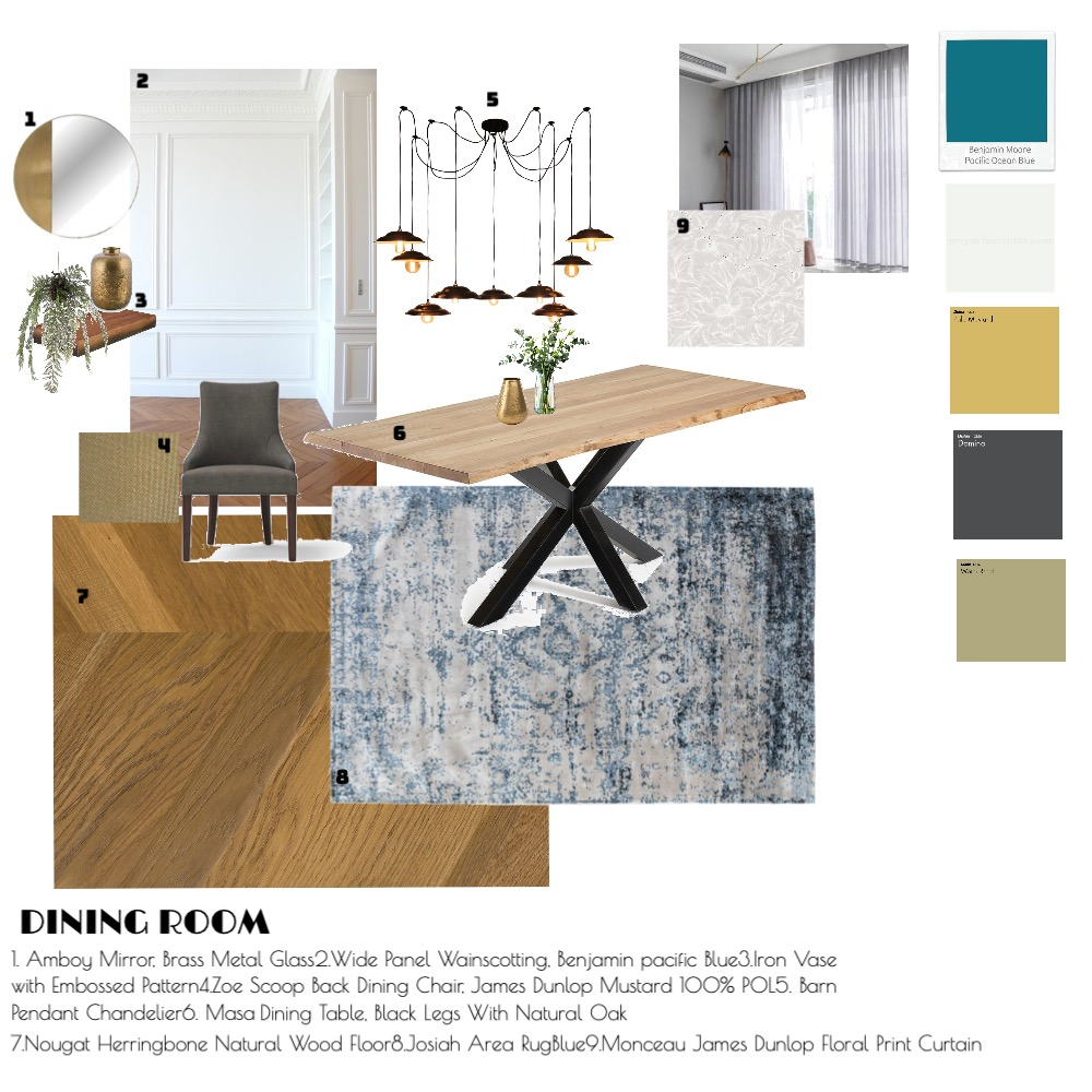 Dining room #1 Interior Design Mood Board by emdickson on Style Sourcebook