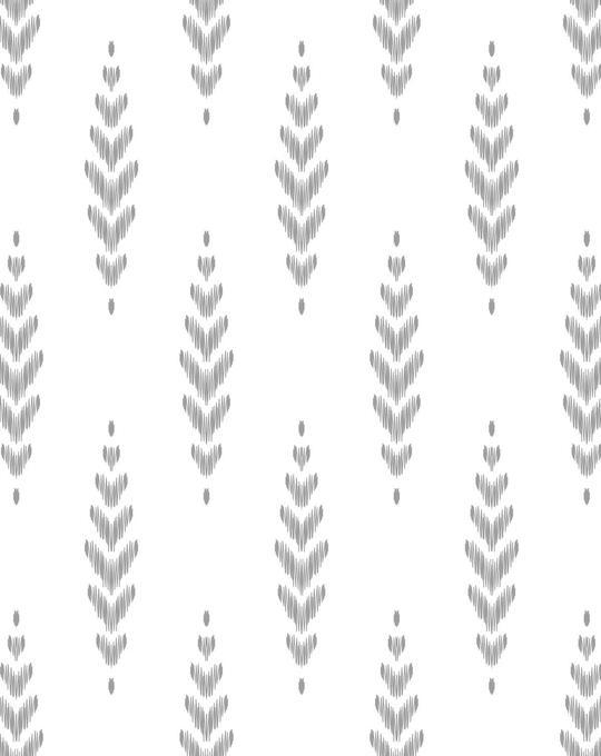 Ikat Classic B&W Wallpaper