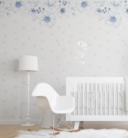 Blue Anemone Wallpaper Mural