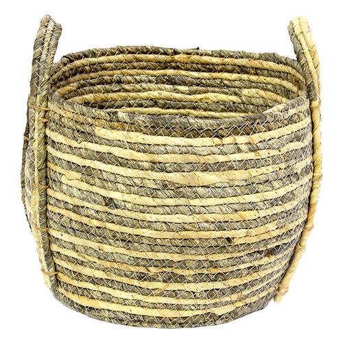 Natural Jade Storage Basket Size: Large