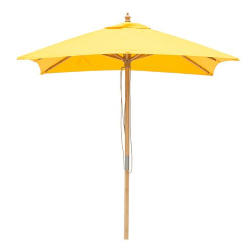 2m Square Market Umbrella Canopy colour: Yellow