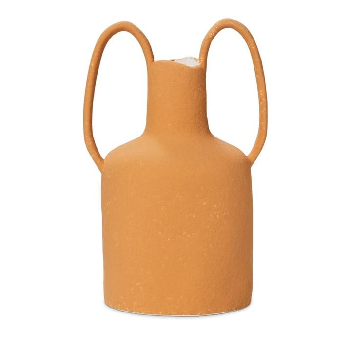 Home Republic Amphora Vase Thin Circle L18xW13xH25cm Toffee By Adairs